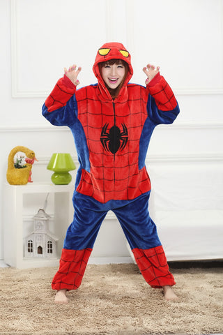 Unisex Spider Zipped Onepeice - The Nerd Cave