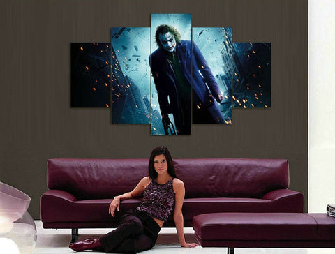 Joker in Gotham - 5 Piece Canvas LIMITED EDITION