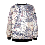 Lord of The Rings Middle Earth Map Sweatshirt - The Nerd Cave - 3