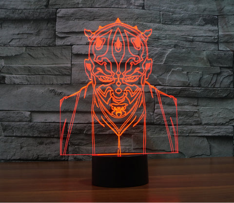 Darth Maul 3D Night Light