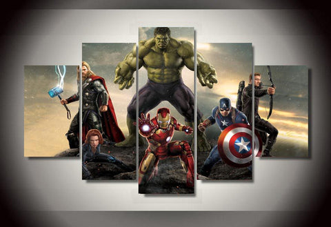 Avengers 2 - 5 Piece Canvas LIMITED EDITION - The Nerd Cave - 1