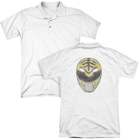 White Ranger Mask (Back Print) - The Nerd Cave