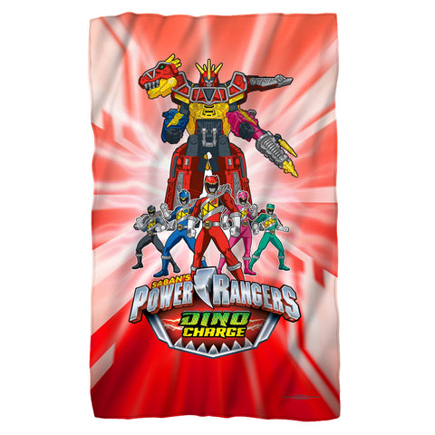 Power Rangers Dino Ranger Fleece Blanket - The Nerd Cave