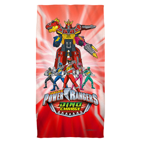 Power Rangers Dino Ranger Beach Towel - The Nerd Cave