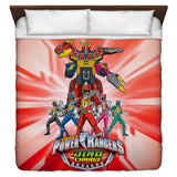 Power Rangers Dino Ranger Duvet Cover - The Nerd Cave - 3