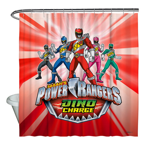 Power Rangers Dino Ranger Shower Curtain - The Nerd Cave