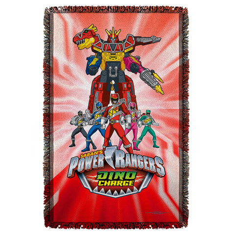 Power Rangers Dino Ranger Woven Throw - The Nerd Cave