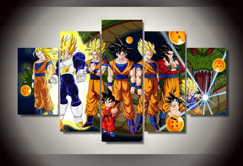 5 Piece Dragon Ball Z Canvas LIMITED EDITION - The Nerd Cave - 1