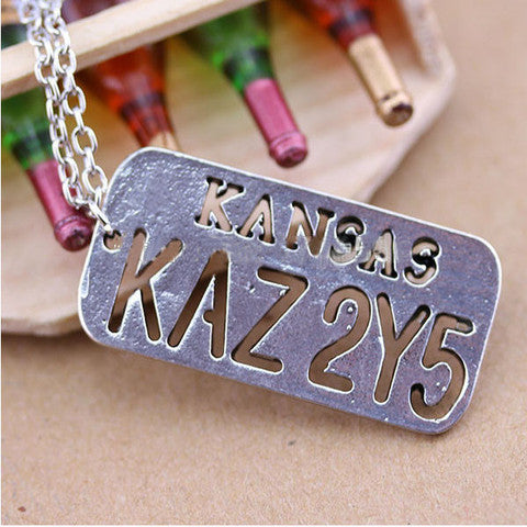 Supernatural License Plate Necklace - The Nerd Cave