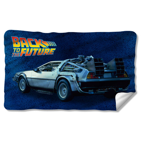 Delorean Fleece Blanket - The Nerd Cave