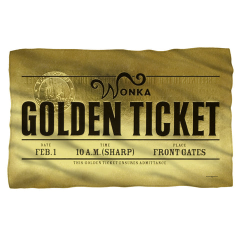 Golden Ticket Fleece Blanket - The Nerd Cave