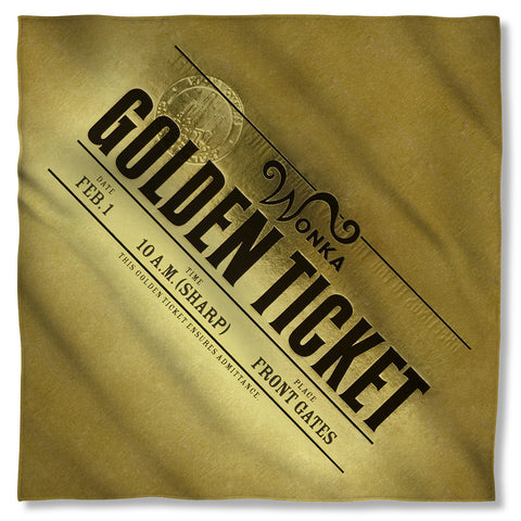 Golden Ticket Bandana - The Nerd Cave