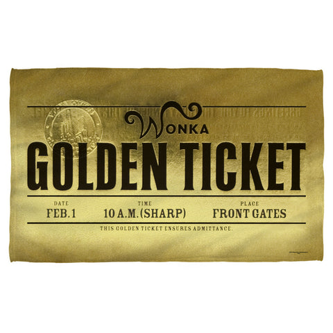 Golden Ticket Beach Towel - The Nerd Cave