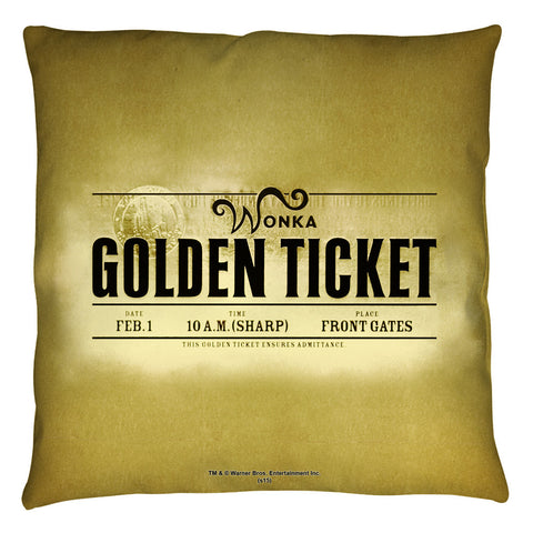 Golden Ticket Pillow - The Nerd Cave - 1