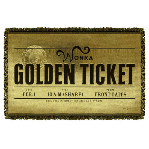 Golden Ticket Woven Throw - The Nerd Cave