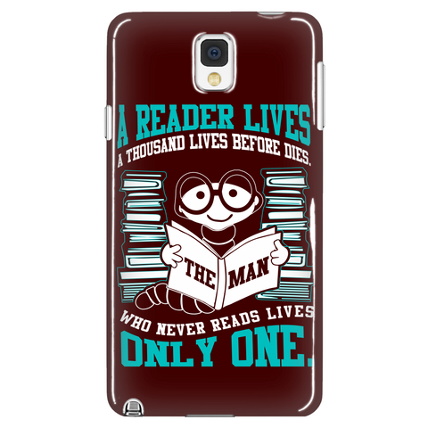 A Reader Lives a Thousand Lives Phone Case LIMITED EDITION - The Nerd Cave - 1