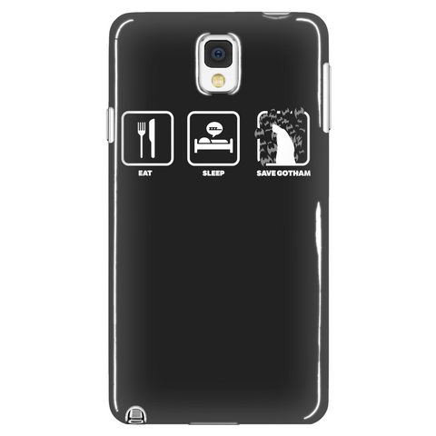 Eat Sleep Save Gotham Phone Case LIMITED EDITION - The Nerd Cave - 1