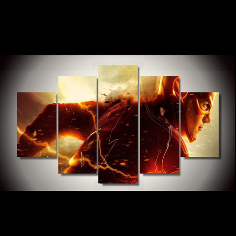 Flash running - 5 Piece Canvas LIMITED EDITION
