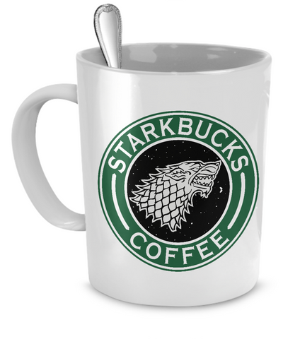 Game Of Thrones - Starkbucks Coffee mug - The Nerd Cave - 1