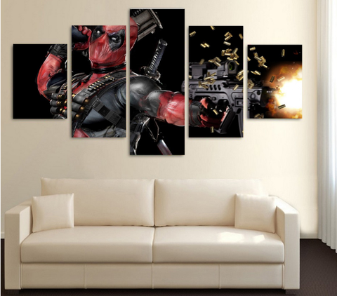Deadpool 5 Piece Canvas LIMITED EDITION