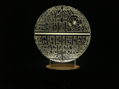 3D Death Star Night Light - The Nerd Cave - 1