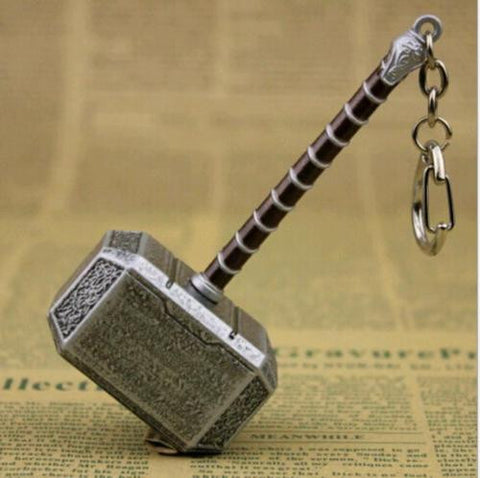 Thor Hammer Metal Keychain - The Nerd Cave - 1