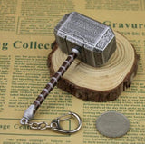 Thor Hammer Metal Keychain - The Nerd Cave - 2