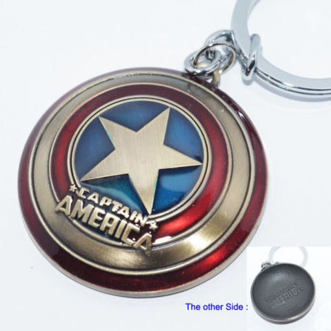 Captain Shield Metal Keychain - The Nerd Cave