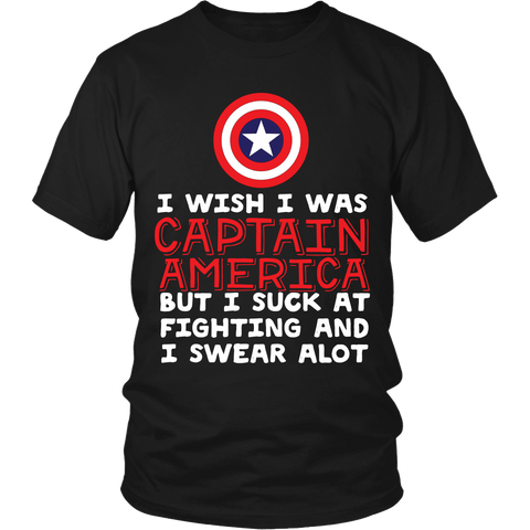 I Wish I Was Cap America LIMITED EDITION - The Nerd Cave - 1