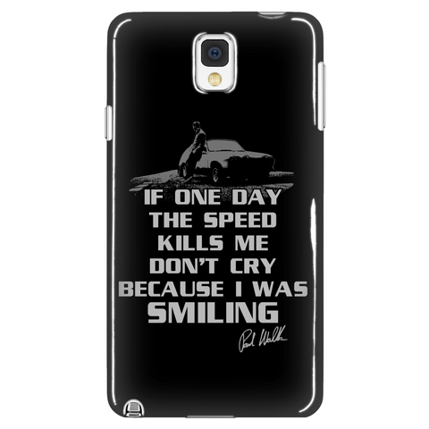 If One Day Speed Kills Me, I Was Smiling Phone LIMITED EDITION - The Nerd Cave - 1