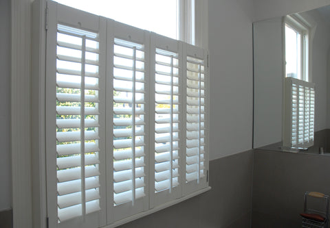 classic MDF shutters in cafe style