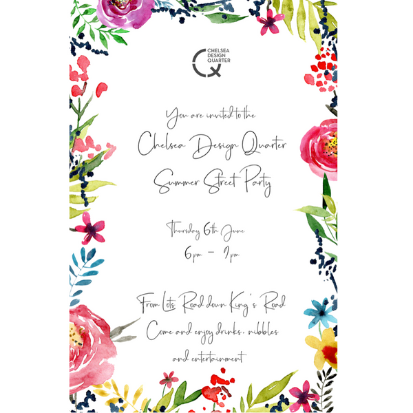 Chelsea Design Quarter Summer Street Party Invitation