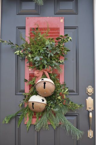 Christmas door reef decoration idea