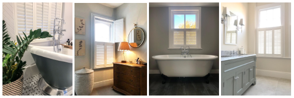 4 images showing different bathroom shutters