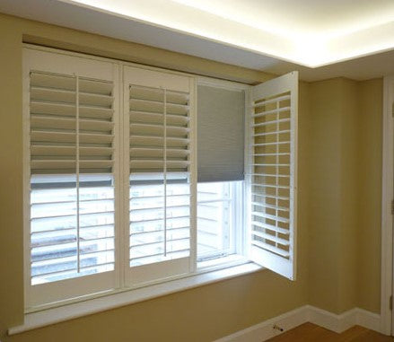 blackout shutters with darkening blinds