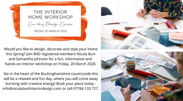 Nicola Burt The Interior Home Worshop Banner