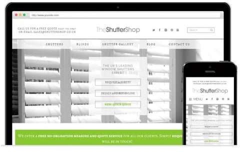 the shuttershop website homepage