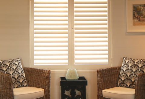 security aluminium shutters in a living room