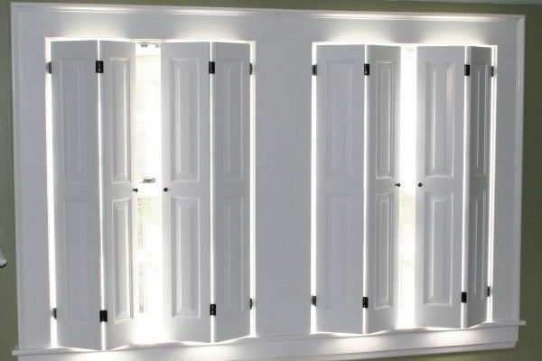 Solid raised range shutters solid panel shutters the - Solid panel interior window shutters ...