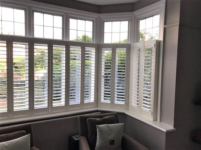 detail of shutters installed in Richmond family home
