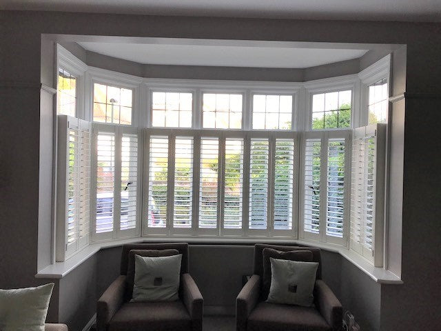 cafe style window shutters in Richmond home