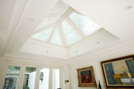 custom shutters for a ceiling opening
