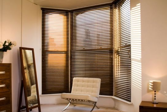 room with premium venetian blinds