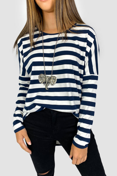 Navy Thick Stripe