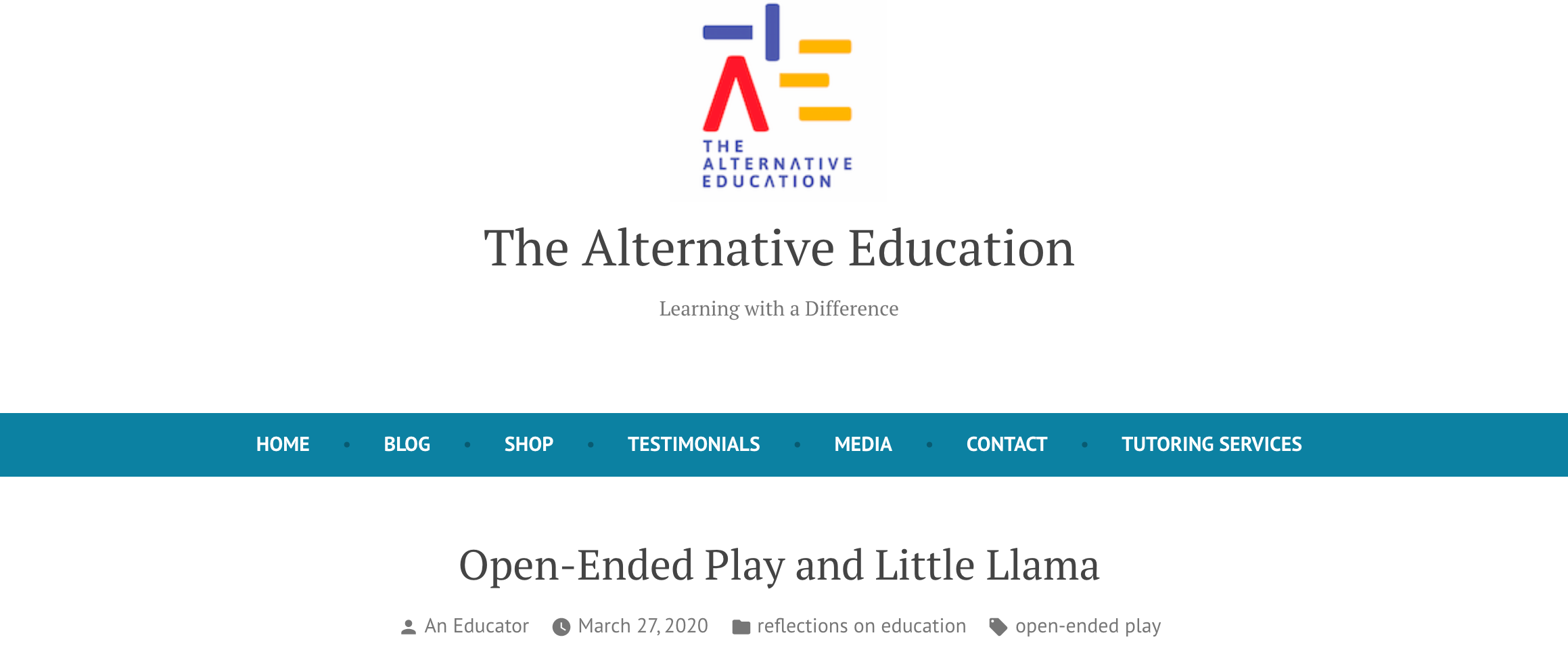 A Senior Educational Therapist shares about Open-ended Play with toys from Little Llama!