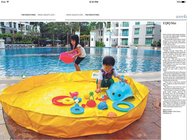 Little Llama Straits Times Feature 5th August 2016