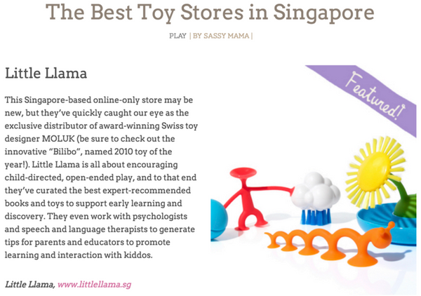 Sassy Mama Best Toy Store Article