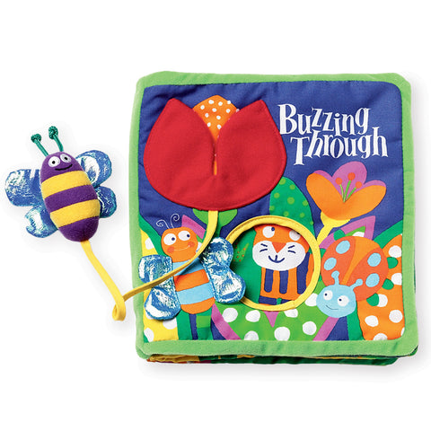 Buzzing Through Cloth Book (6mth-2yrs), Manhattan Toy Company - Little Llama