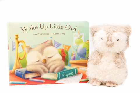 Wake Up Little Owl Read & Play (1.5-5yrs), Jellycat - Little Llama