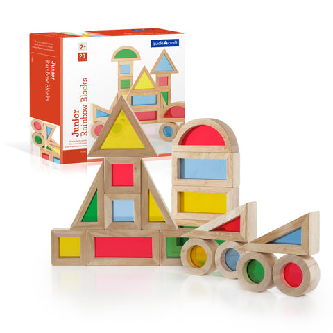 Jr Rainbow Sensory Blocks (2+years), Guidecraft - Little Llama
